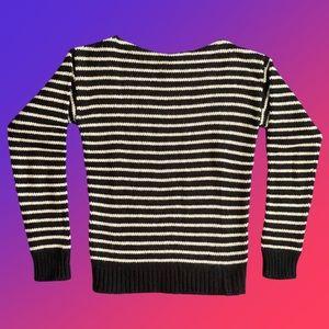 Saint Laurent Men's Wool Striped Sweater